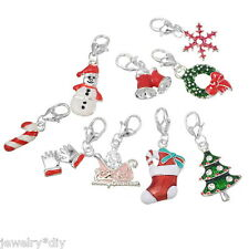 Wholesale JD Mixed Christmas Clip On Charms. Fit Chain Bracelet