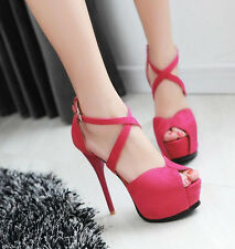 Womens Sexy Platforms sandals High Heels Stiletto Pumps Wedding Party ShoesCM205