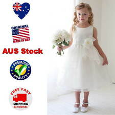 Ivory Flower Girl Dress Jr Bridesmaid Dress Girls Party Formal Dress Size 2 to12