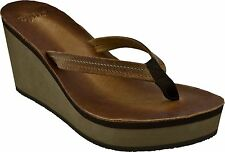 Womens Cushe® UW01221 Fresh Anisa Tan Wedge Sandals Medium Width Size