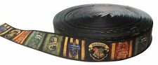 """Harry Potter House Crests 1"""" Repeat Ribbon Sold By The Yard - USA Seller"""
