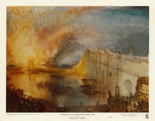 Burning of the Houses of Parliament Art Print by Turner, J. M. W.