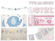 Baby Shower Banners Boy & Girl styles All FREE P&P Buy any 3 items and save!