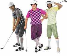Mens Pub Golf Sport Fancy Dress Costume Party Golfer Adult Male Outfit