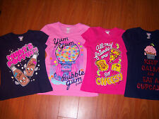 Girls Justice Super Cute T-shirts What's Poppin/ Cheesy/ Cupcake Sz 6 ~12 NEW