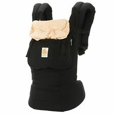 Baby Carrier 3 Position Adjustable Waistband Black And Camel Original Ergobaby