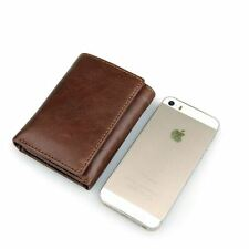 Men's Genuine Leather Cowhide Wallet Money Clip ID Credit Card Holder Case Purse