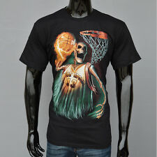 3D Printed Death Basketball Player Fire Skull Hot Men T-shirt Short Sleeve