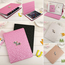 Diamond Zebra Smart Flip Stand Slim Leather Case Cover For Apple iPad Series