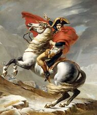 Napoleon Crossing the Alps by J-L David (Classic French Imperial Art Print)