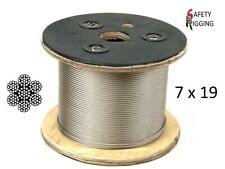 4.8mm Marine Stainless Steel Wire Rope Lifting Rigging Cable - 7 x 19 constr.
