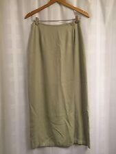 Tommy Bahama Women's 100% Silk Sage Green Long Wrap Skirt Size 6