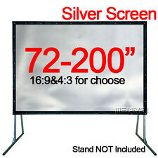 72-200 Inch Gray PVC Silver Projection Film Screen Curtains to Home HD Projector