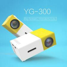 YG300 Mini Portable LED Projector HD 1080P Home Theater Videos USB HDMI AVC G5G3