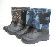 Mens Camo Winter High Waterproof Fishing Warm Hiking Flat Snow Boots 41~46