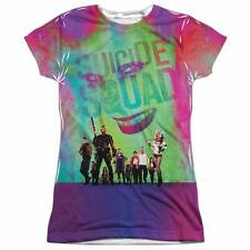 SUICIDE SQUAD Stand Off 100% Poly Allover Sublimation JUNIORS T-Shirt S-2XL
