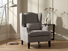 Ailsa Accent Chair Fabric High Quality Occasional Armchair Studded Detail