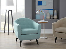 Senga Fabric Accent Chair High Quality Occasional Armchair Curved Back Tub Chair