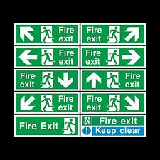 FIRE EXIT WORKPLACE EMERGENCY HEALTH & SAFETY SIGNS WATERPROOF COSHH HACCP