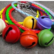 1PC Pet Dog Cat Necklace PU Weaving Leather Collar Supplies with Buckle and Bell