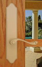 FPL Piedmont Entry Door Lever Set and Back Plates with Deadbolt