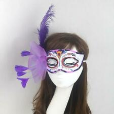 Halloween Venetian Party Mask Feather Masquerade Ball Carnival Fancy Dress