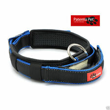 Patento Pet Retractable Dog Puppy Collar with Integrated Leash & Grab Handle