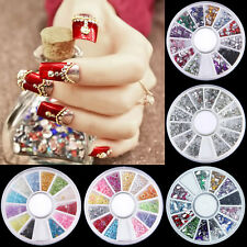 Manicure DIY Decoration Nail Art Rhinestones Glitters Acrylic Tips Tool Wheel