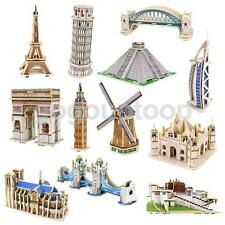 3D PUZZLE JIGSAW Decorative Building Model Monument DIY Kid Toy Gift Collectible