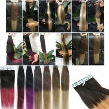 "16""-22"" 100% Tape In Remy Skin Weft Ombre Remy Human Hair Extensions 20pcs/set"