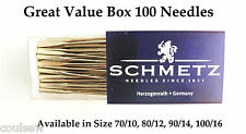 Schmetz Domestic Universal Sewing Machine Needles Box of 100 - Select Your Size