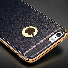 Luxury PU Leather Plating Silicone Gel Case Cover for Apple iPhone6 6s Plus Skin