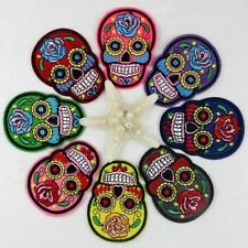 Vintage DIY Embroidered Cloth Iron On Patch Sew Motif Applique skull