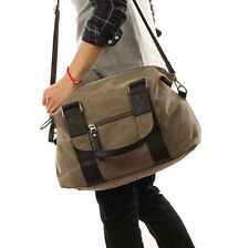 Men's British style travelling luggage tote bag canvas cross body shoulder bag
