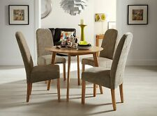Hunston Round Dining Table and 4 Dining Chairs Quality Solid Oak Table