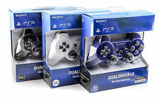 Sony Playstation 3 Wireless Dualshock 3 Controller PS3 Black, Blue, White