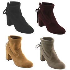 Beston FC76 Women's Ankle Tie Up Block Heel Ankle Booties One Size Small