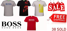 Casual  HUGO BOSS O Neck Short Sleeve Men Polo Tee Shirt T Shirt