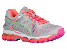 NEW WOMENS ASICS GEL-KAYANO 22 RUNNING SHOES TRAINERS SILVER GREY / PISTACHIO