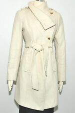 Guess coat Wool Military Asymmetrical belted 3/4 Length stylish jacket $269 NEW