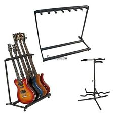 3 Types Folding Electric Acoustic Guitars Bass Metal Storage Display Rack Stand