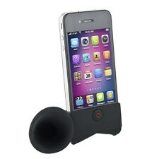 Cute Portable Silicone Horn Stand Amplifier Speaker For iPhone 4 4S 4G NEW ZD