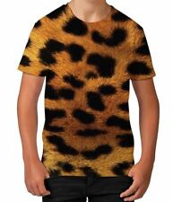 Leopard Animal Print Fur Wild Cat Wildlife Summer Boys Unisex Child T Shirt