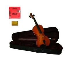 """New Student Viola,Case,Bow+2 Sets of Strings+Rosin 16""""15""""14""""13""""12""""11""""10"""""""