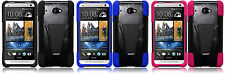 T Stand Armor Hybrid Cover Case for HTC Desire 601 4G LTE HTC Zara Phone