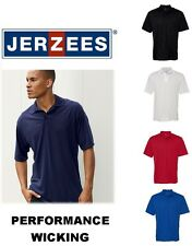 S - 3XL Jerzees  Sport Performance Sport Shirt  Polo 421MR Wicking Golf Mens