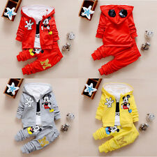 3pcs  baby boys Girls Hooded coat+T shirt+pants Spring Outfits Fall clothing Set