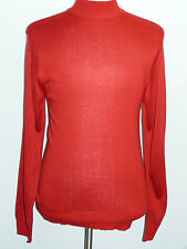 Mens INSERCH Christmas Red Mock Neck Pullover Knit Sweater High Collar Casual