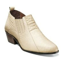 Stacy Adams Mens Shoes Sunset Anaconda Print Ankle Boot Ivory Leather 24819-101
