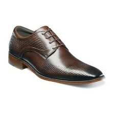 Stacy Adams Mens shoes Kallan Brown Plain toe oxford Buffalo leather 25079-200